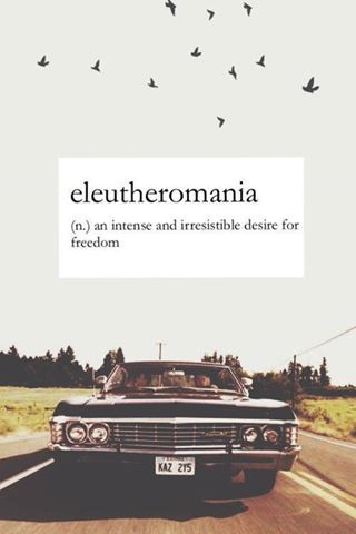 Eleutheromania - what a cool word!                                                                                                                                                                                 More