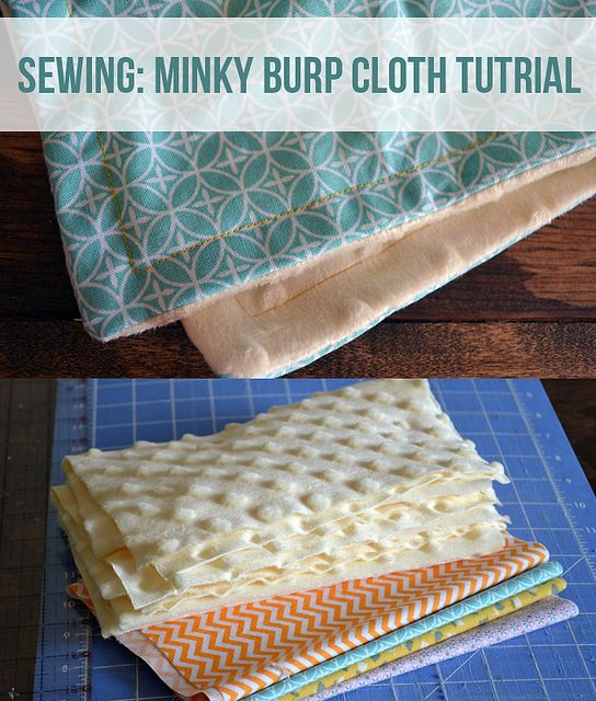 Minky Burp Cloth Sewing Tutorial via @Kelsey Myers of Poofy Cheeks