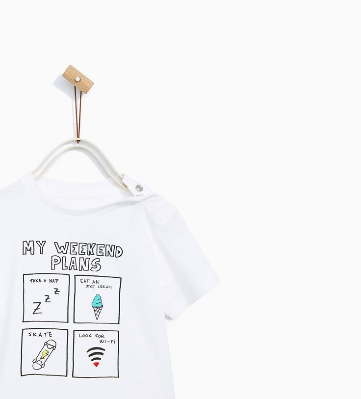 Image 2 of T-SHIRT WITH ENGLISH SLOGAN from Zara