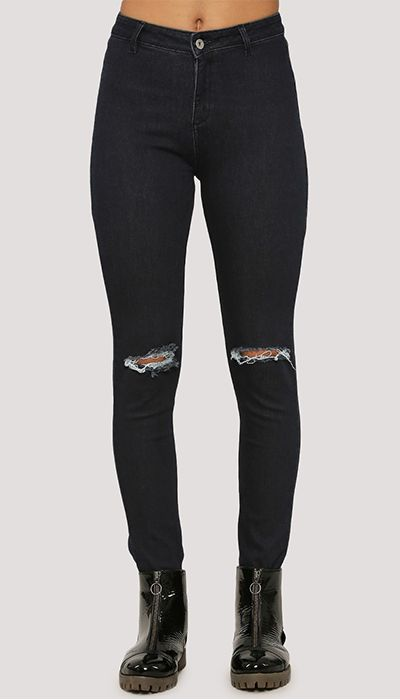 Extreme Ripped Jeans. Shop Now at https://www.estrolo.com/product-category/women-denims/ #BlackJeans #WomenDesignerJeans #NewCollection #EstroloFashion