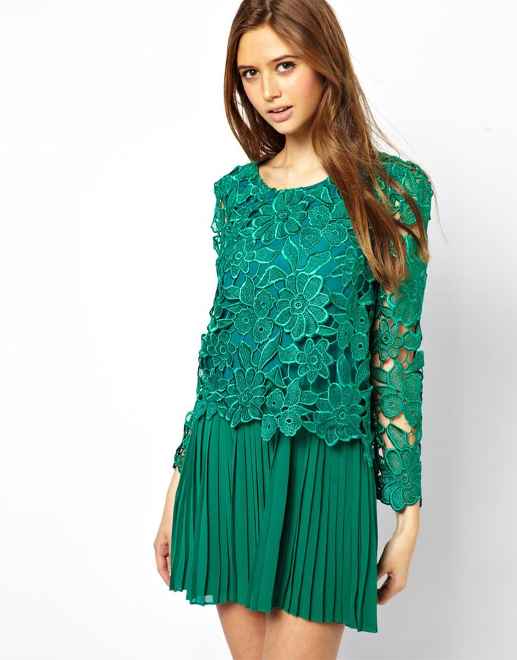 Green with envy black lace dress