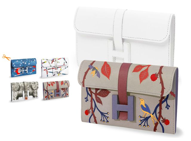 DIY printable Hermes clutch. Draw your own or print finished one. The elephant one, I'm dying.