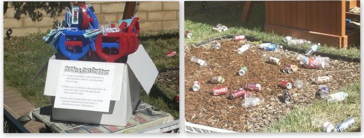 Trash pick up game - Trash Truck Birthday Party