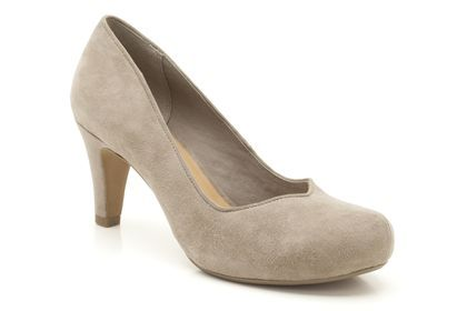 Womens Smart Shoes - Chorus Voice in Mushroom Suede from Clarks shoes