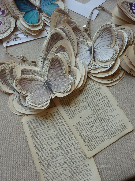 Butterflies on book pages