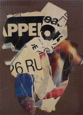 UNTITLED | villegle Arrachage et collage d'affiches sur isorel n°: villeglé-0312-009-2M5