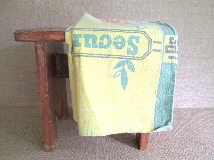 Vintage Muslin Feed Sack Bag Alfalfa Seed Antique Linens Vintage Graphics by RollingHillsVintage on Etsy