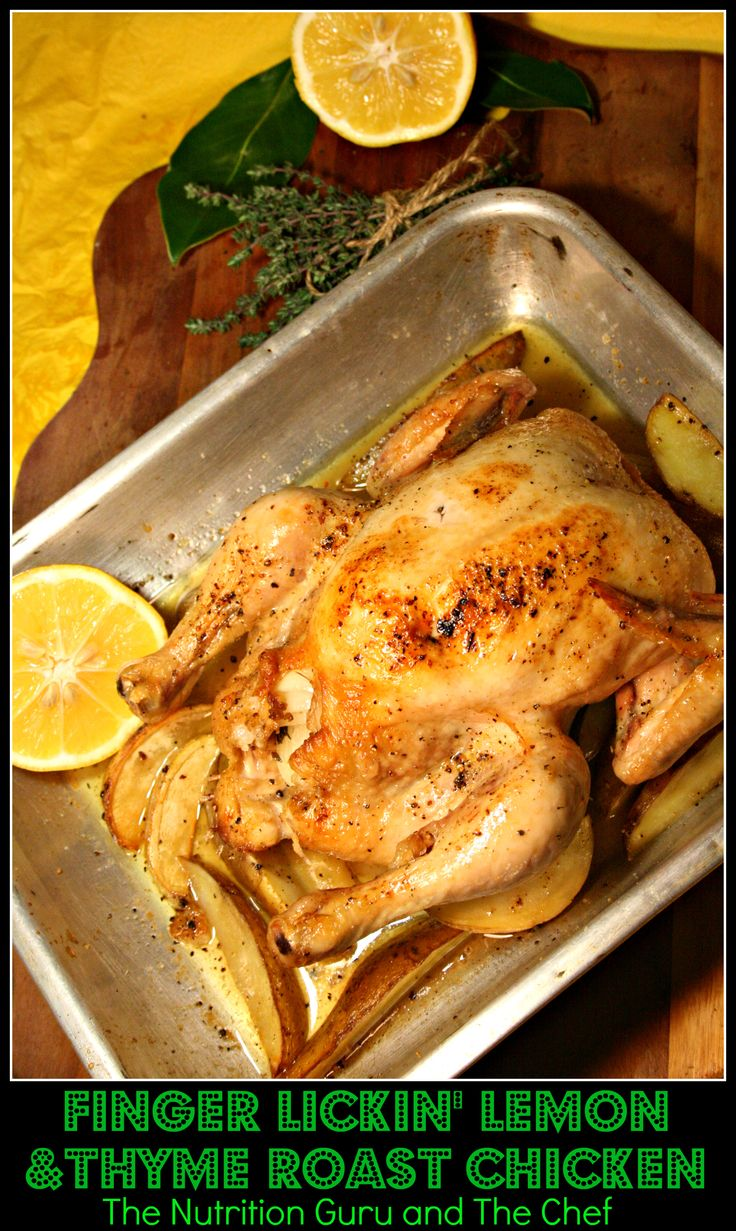 Finger Lickin' Lemon and Thyme Roast Chicken