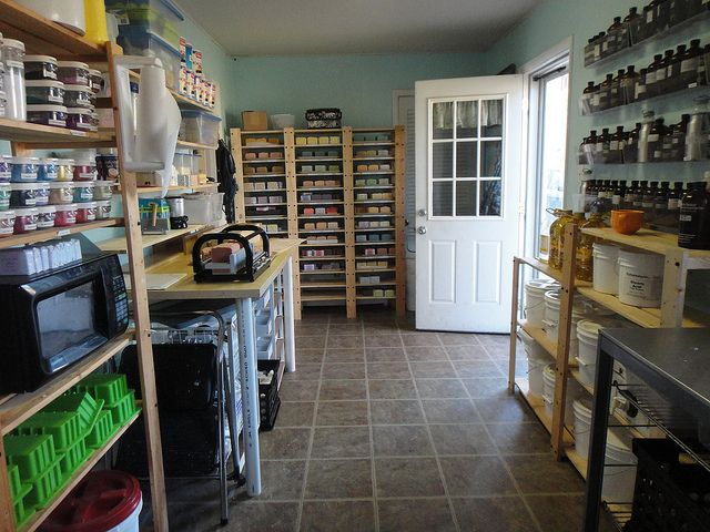 I need an amazing soap room like this!