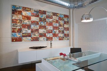 Office; Painting by Keith Milow - contemporary - home office - dc metro - Studio Santalla, Inc