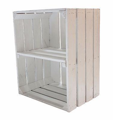 4er Paket weiße Obstkisten mit Regalboden,Regal, Nachttisch,Holzregal in Möbel & Wohnen, Dekoration, Sonstige | eBay!