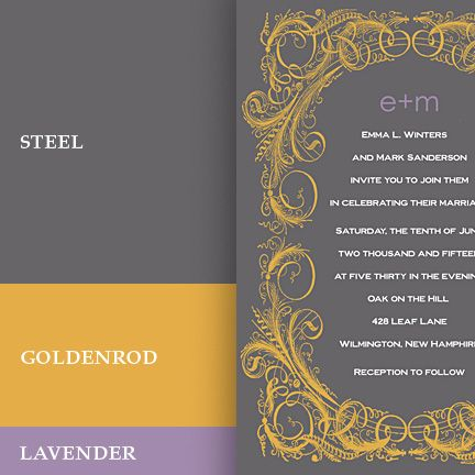 Google Image Result for http://www.formal-invitations.com/wedding-invitation-ideas/wp-content/uploads/color-palettes-gray-yellow-lav.jpg