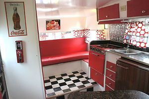 1969 Aristocrat Lo-Liner Travel Trailer Camper Vintage Remodeled Coca Cola Theme 1969... This is perfect.