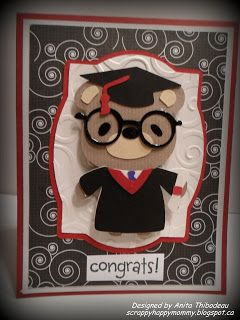 Teddy Bear Parade Graduation Cricut Card