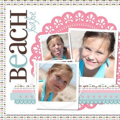 Heather Summers  Stampin' Up!Nurseries Dsp, Summer Layout, Insporational Scrapbook, Scrappy Ideas, Scrap Lo, Cards Club, Scrapbook Layout, Heather Summer Stampin Up, Beach Babes