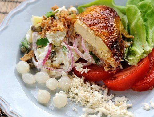 Potatissallad med rostbiff eller grillad kyckling