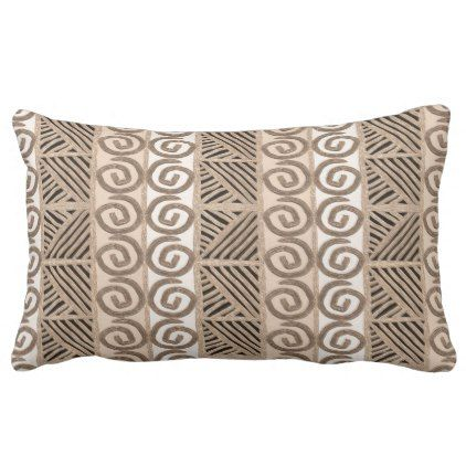 african hand-drawn ethnic pattern lumbar pillow - home gifts ideas decor special unique custom individual customized individualized