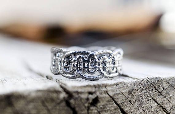 Lace Ring, Valentine's Gift, Romantic Jewelry, Dainty Ring, Statement Ring, Lace Jewelry, Unique Ring, Cast Lace, Ready to Ship