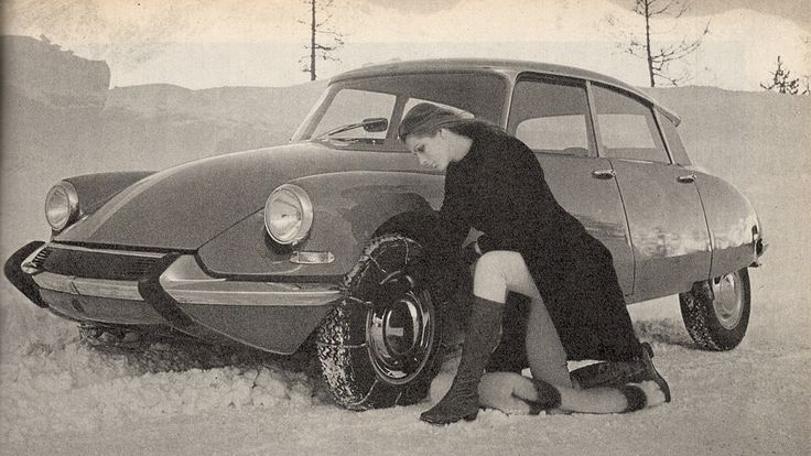 Putting snow chains on can be quite erotic.