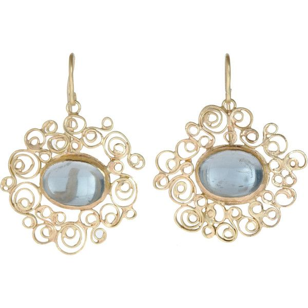 Judy Geib Aquamarine Spirally Earrings ($2,875) ❤ liked on Polyvore featuring jewelry, earrings, accessories, brincos, judy geib jewelry, aquamarine jewellery, handcrafted jewellery, aquamarine jewelry and spiral earrings