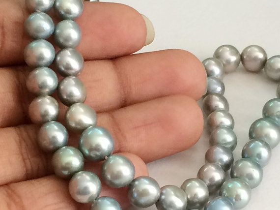Pearls   Sea Green Color Pearls Natural Fresh by gemsforjewels