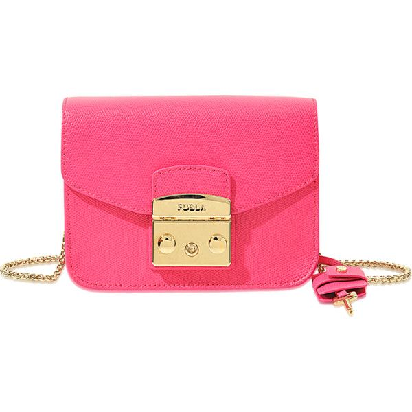 Furla Metropolis clutch ($271) ❤ liked on Polyvore featuring bags, handbags, clutches, pink, pink purse, furla handbags, furla purses, furla and pink clutches