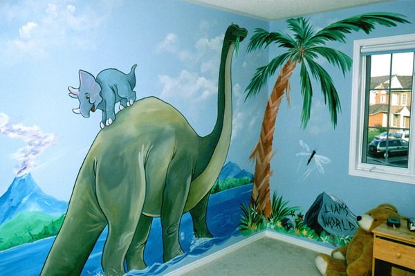 Kids Room Wall Mural in Dinosaur Theme