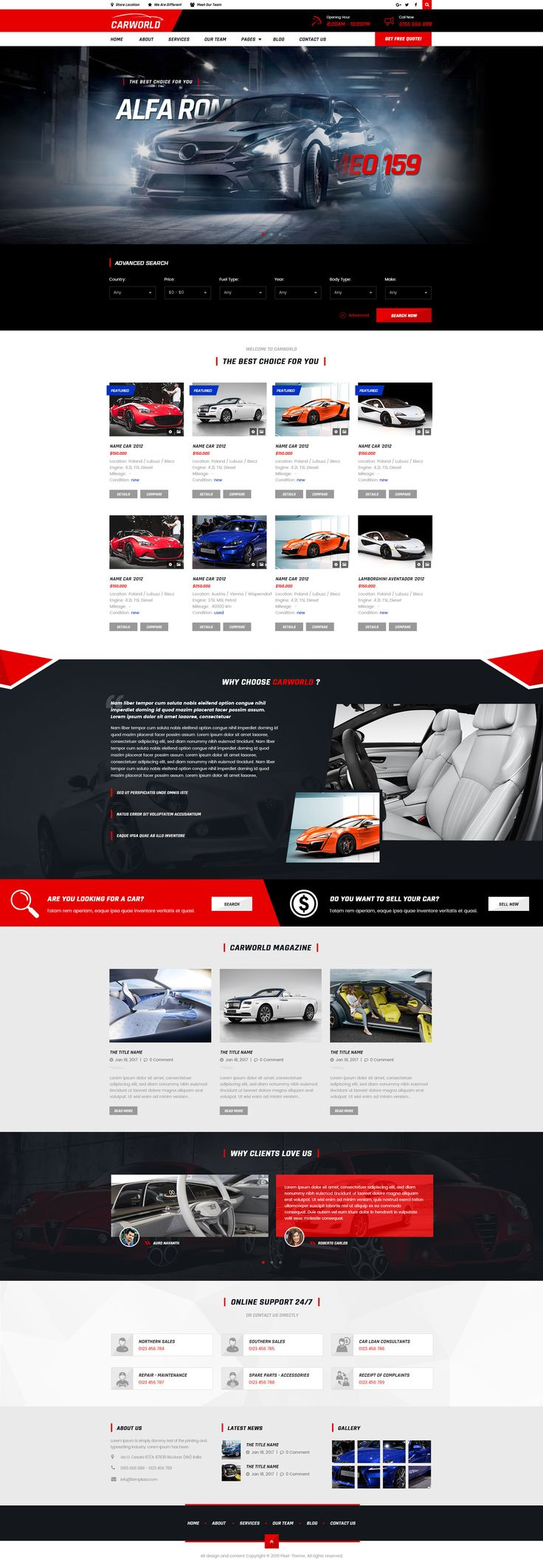 CarWorld - Car Dealer & Auo Repair PSD Template • Download ➝ https://themeforest.net/item/carworld-car-dealer-auo-repair-psd-template/18291953?ref=pxcr