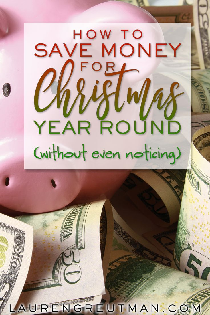 Stop stressing about money during December! Here's how to save for Christmas throughout the year without even noticing!