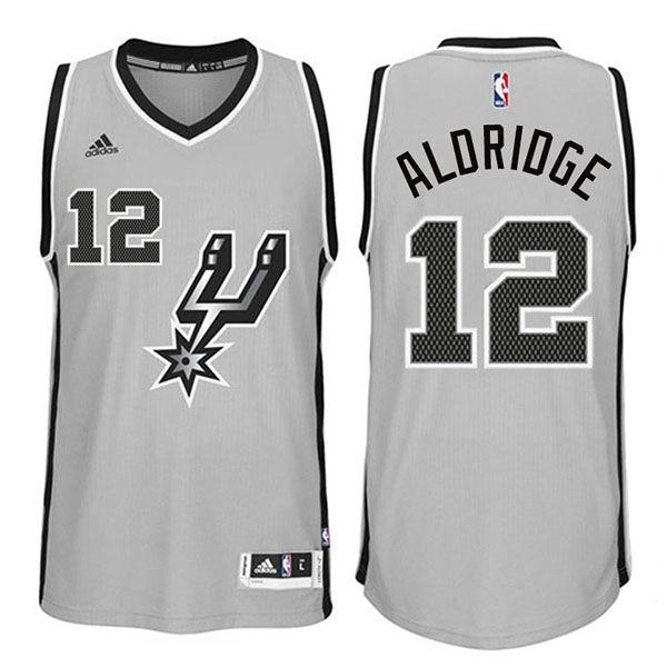 Spurs 21 LaMarcus Aldridge 2015 New Gray Jersey