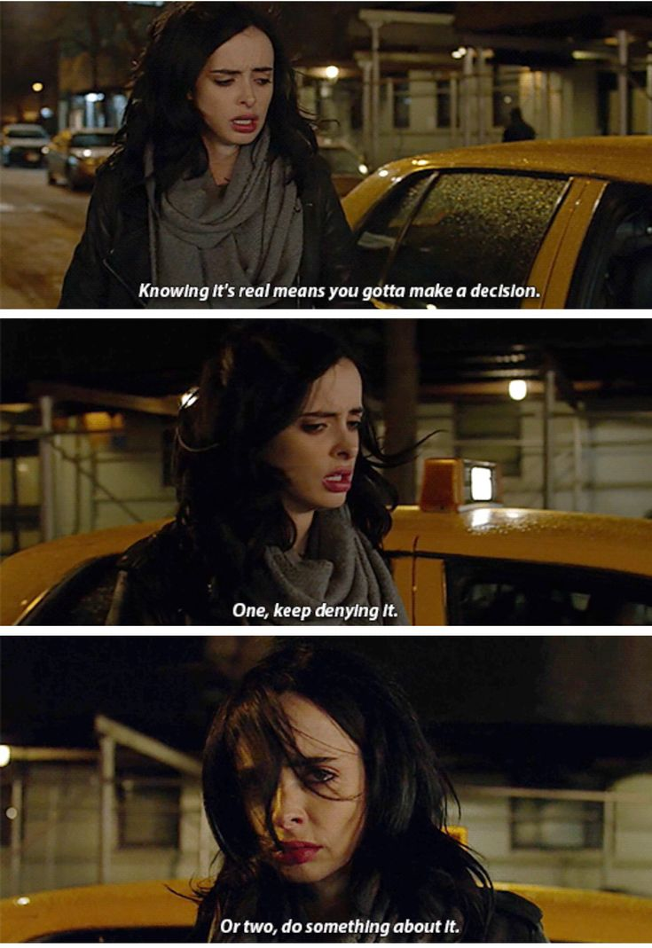 """Knowing it's real means you gotta make a decision"" - #JessicaJones"