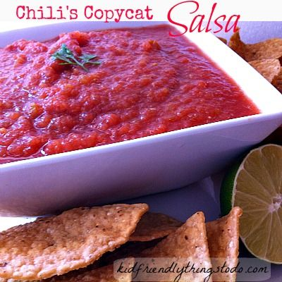 Chili's Copycat Salsa Recipe! You won't believe how easy this is!