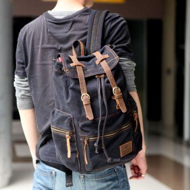 Only US$23.81, Men/Women's Vintage Canvas Backpack Rucksack - Tomtop.com