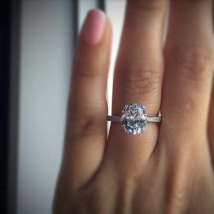Tacori solitaire oval engagement ring