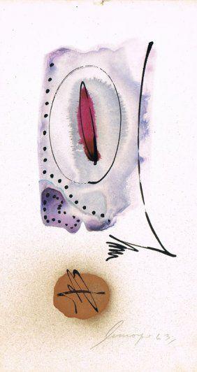 LEMOYNE, Serge (1941-1998) Sans titre - encre et aquarelle sur papier