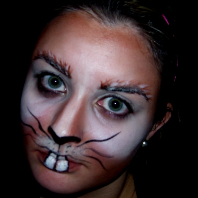 March Hare face painting... we need this for Wonderland.