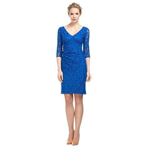 Buy Kaliko Lace Shift Dress, Cobalt Online at johnlewis.com