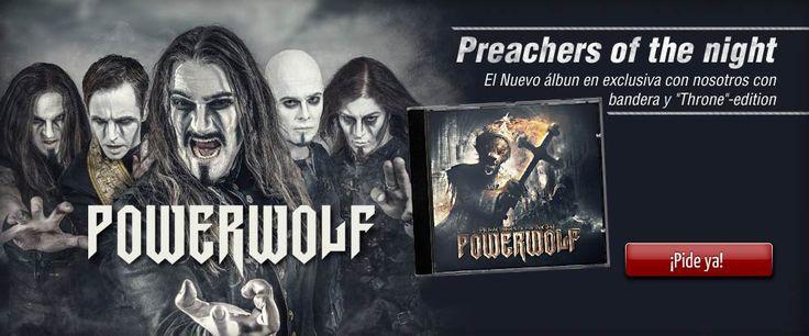 #Powerwolf - el nuevo album!  #empspain la mayor tienda online de Europa de Merchandising oficial de bandas de #Metal, #Hard Rock , #Heavy, Ropa #Gótica , #Punk y todo lo que te hace falta para vivir el Rockstyle en toda su dimensión