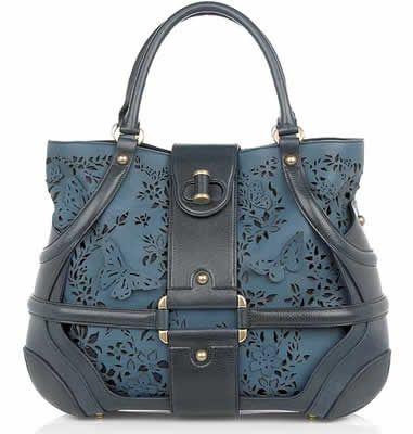 Alexander McQueen Laser Cut Butterfly Handbag