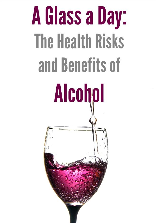 A Glass a Day: The Health Risks and Benefits of Alcohol: It is very difficult to say whether there are any real health benefits of drinking alcohol. For now, it seems like the safest bet is to follow the official guidelines by drinking no more than 14 units a week and spreading it out over the week rather than drinking it all in one go.