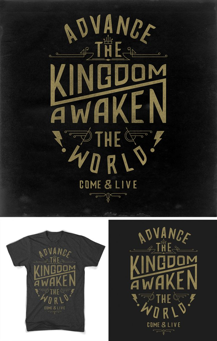 T shirt design inspiration typography - Advance_the_kingdom_dribble_detail Jpg By Nicholas D Amico Dsbd