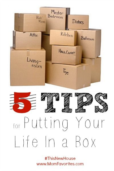 Putting your life in a box is tough! So if you're planning to move, bookmark this! 5 Tips for an EASIER Move.