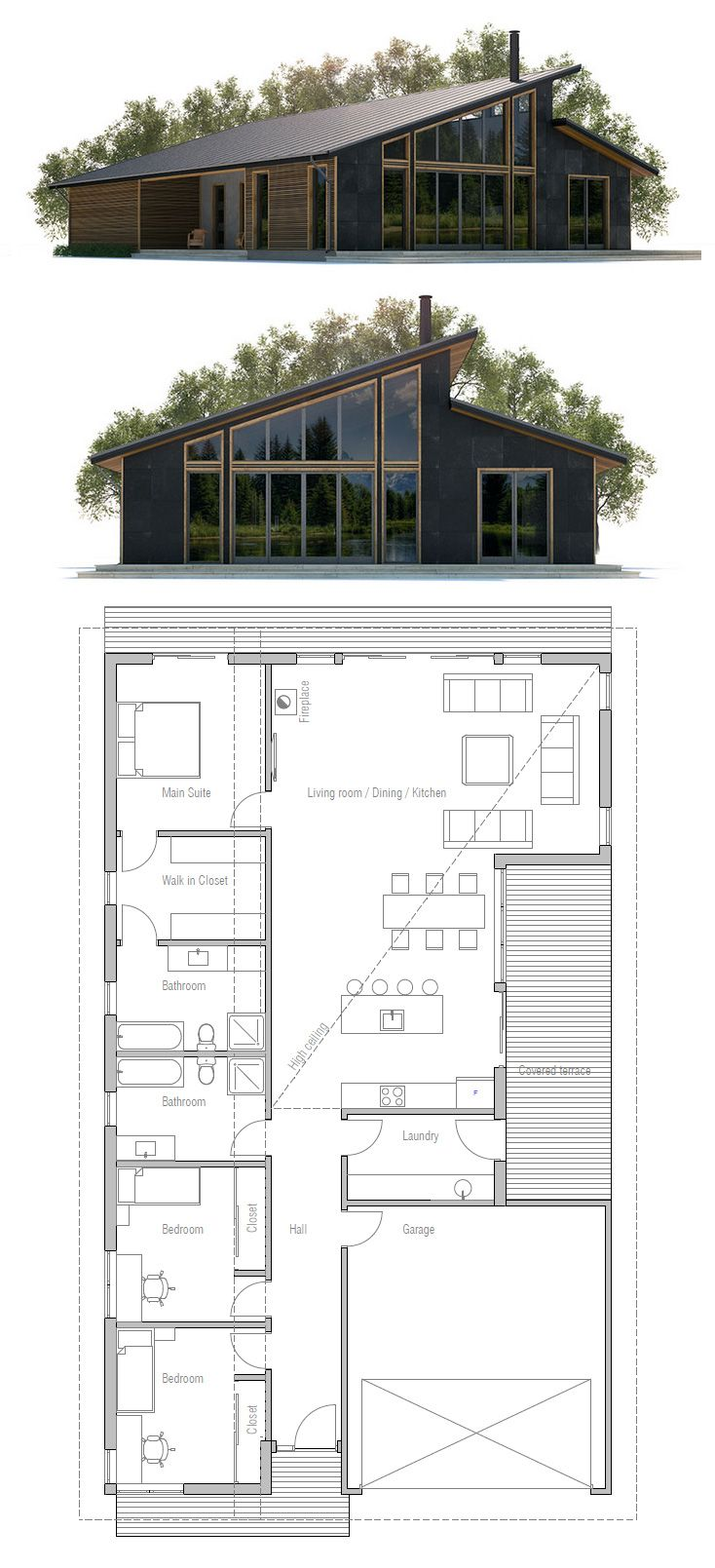 69 best images about narrow house plans on pinterest for Modern narrow house plans