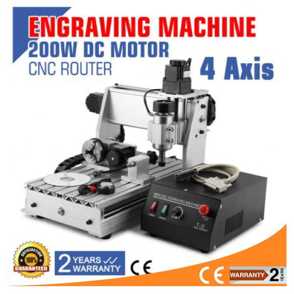 VEVOR Updated New CNC 3020T USB Router Engraver/Engraving Drilling and Milling Machine 4 Four Axis
