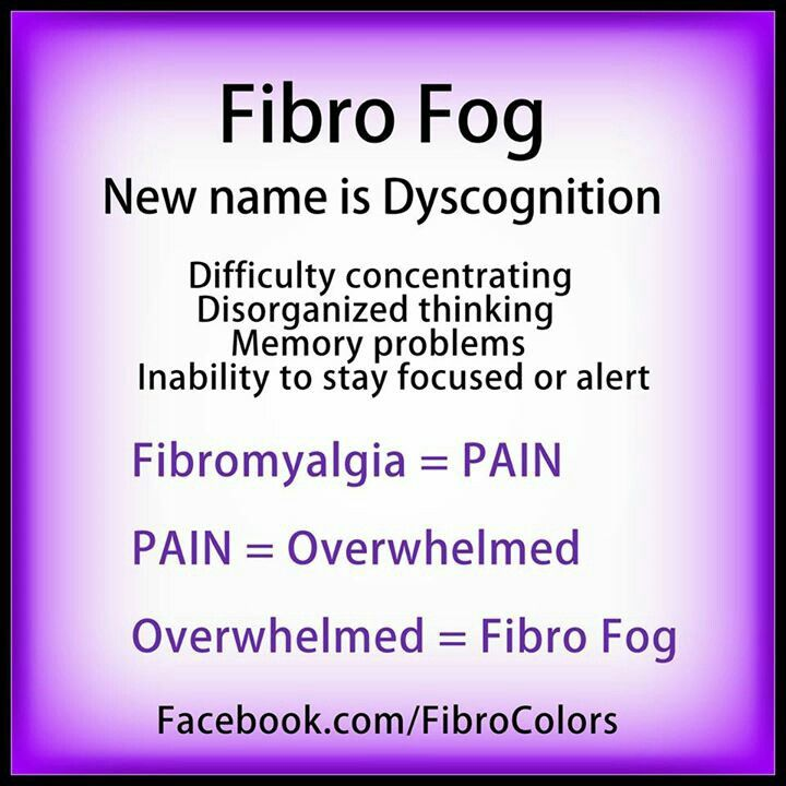 FIBRO FOG, and dont forget all hopes in finding my companion is gone