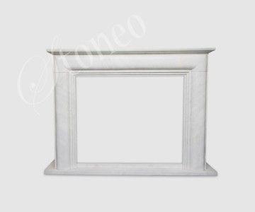 Monumental - kominek angielski, marmur Hunan White