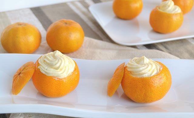 Mandarines farcies au Thermomix, recette d'un bon dessert d'hiver, très parfumé et vitaminé, facile à faire et qui plaira à toute la famille.