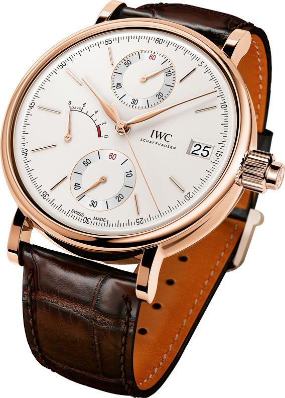 La Cote des Montres : La montre IWC Portofino Remontage Manuel Monopoussoir pour Watches & Wonders 2015 - Un nouveau chronographe sophistiqué