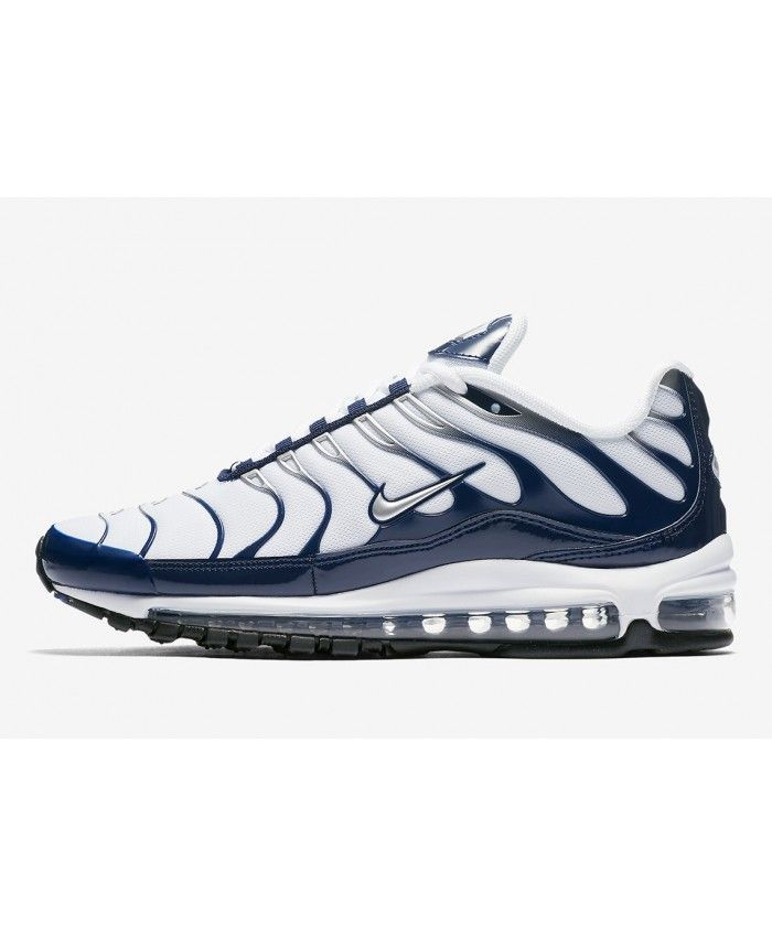meet 0f162 e9114 Nike Air Max 97 Plus Chaussures Bleu Blanc Air Max 97, Nike Air Max,