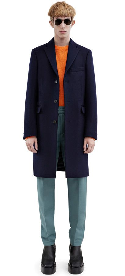 Acne Studios Garret navy Heavy melton coat